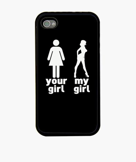 Funda iPhone tu chica vs mi chica - negro