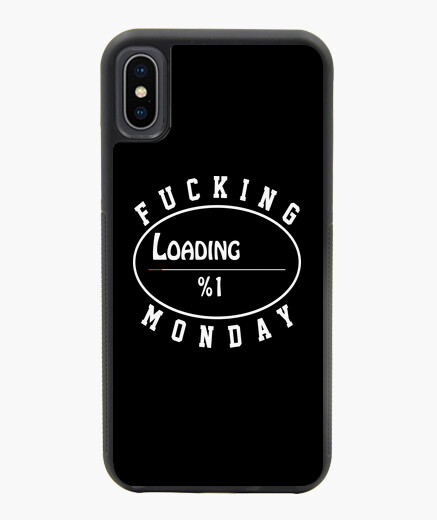 Funda iPhone X / XS Fucking Monday - blanco