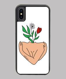Funda iPhone X XS WHITEX self love