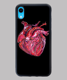 Funda iPhone XR con ilustracion corazon real