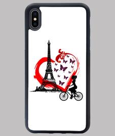 Funda iPhone XS MAX - Torre Eiffel enamorados