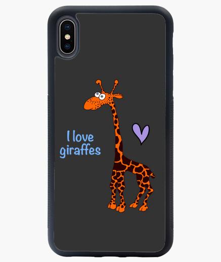 Funda iPhone XS Max I love giraffes