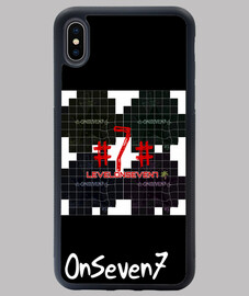 Funda iPhone XS MAX. OnSeven7. White black.