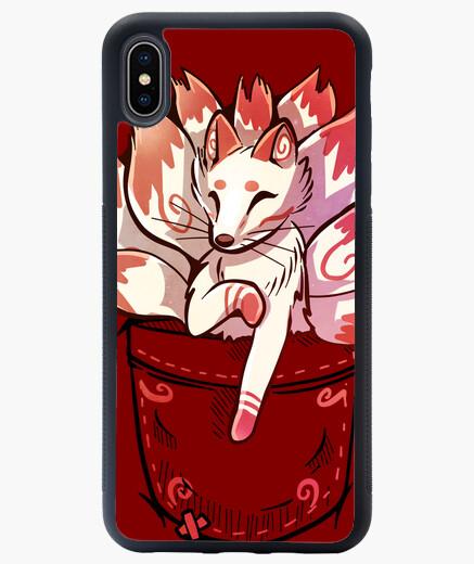 Funda iPhone XS Max pocket cute kitsune...