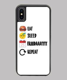 Funda iPhone X/XS  (Eat, Sleep, Friday, Repeat.)