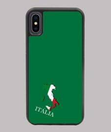 FUNDA ITALIA IPHONE X/XS MAPA 3D BANDERA NOMBRE