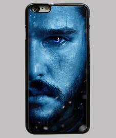Funda Jon Snow, iPhone 6 Plus, negra