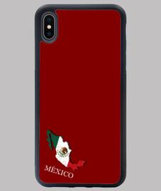FUNDA MÉJICO IPHONE XS MAX MAPA 3D BANDERA NOMBRE
