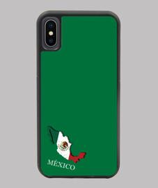 FUNDA MÉJICO IPHONE X/XS MAPA 3D BANDERA NOMBRE