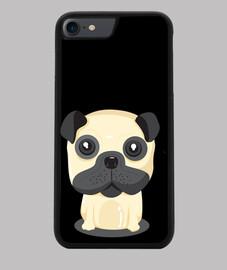 Funda movil Iphone 7 / 8 7/8, Perro Pug Sentado