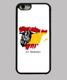 Funda para iPhone 6 original diseño de un toro y bandera de España