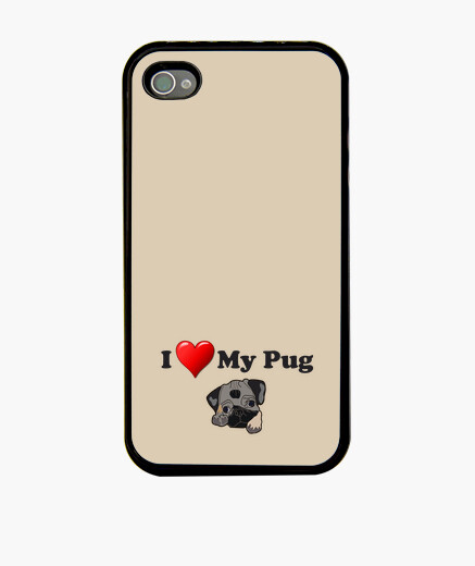 Funda iPhone Funda para movil iPhone 4 o iPhone 4S I love my pug