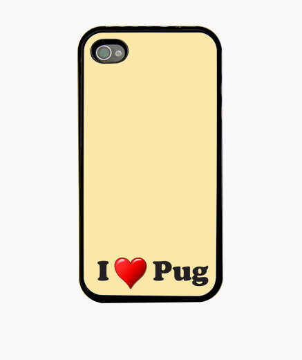 Funda iPhone Funda para movil iPhone 4 PLUS corazon pug