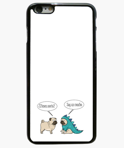 Funda iPhone 6 Plus Funda para movil iPhone 6 PLUS pug dinosaurio