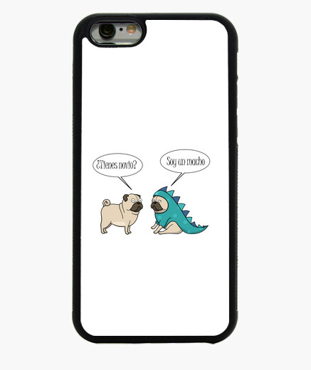 Funda iPhone 6 Funda para movil iPhone 6 pug dinosaurio