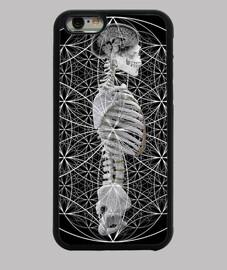 Funda SACRED GEOMETRY HUMAN iPhone 6, negra