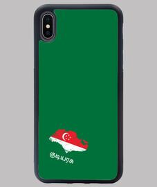 FUNDA SINGAPUR IPHONE XS MAX V MAPA BANDERA NOMBRE
