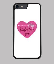 Funda teléfono Mujer Día de San Valentín Corazón My Valentin
