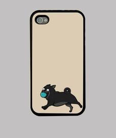 fundfa iphone 4 o iphone 4s nero cani pug pug