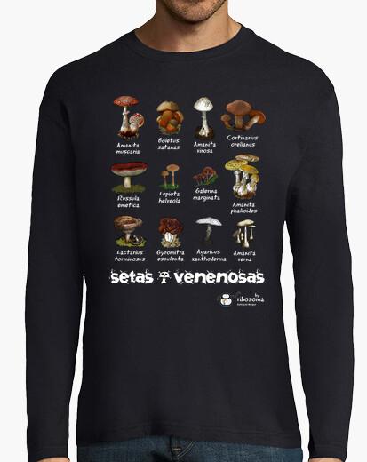 T-shirt funghi vellenosi: s (sfondi scuri)