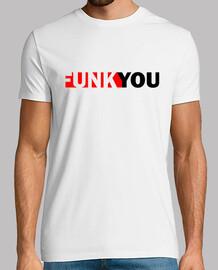 funk you original camiseta blanca el