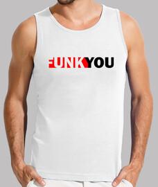 funk you original camiseta sin mangas blanca el