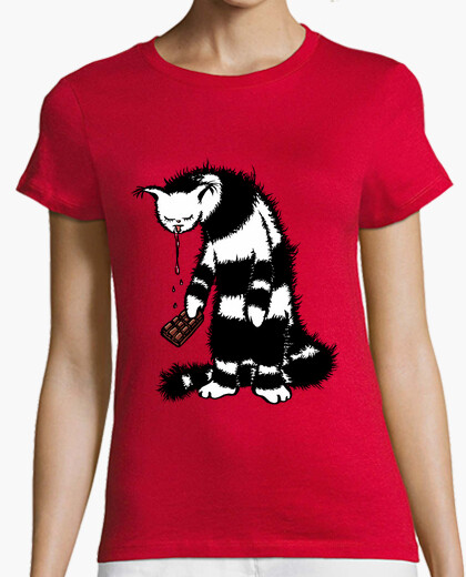 Funny Cat Creature Chocolate Lover t-shirt