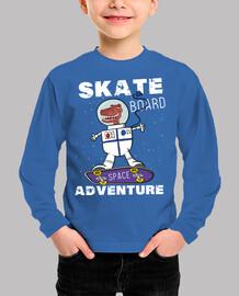 Funny Dinosaur Astronaut Skateboard