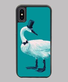 Funny Elegant Swan Bowtie Top Hat
