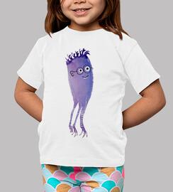 funny geek monster watercolor