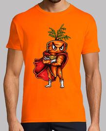 funny humor t shirt super vegetarian carrot