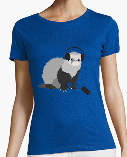 Funny Music Loving Ferret T-shirt