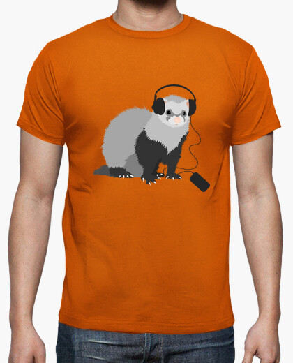 Funny Music Loving Ferret Tee t-shirt