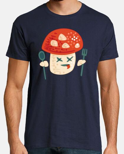 Funny Poisoned Mushroom Character