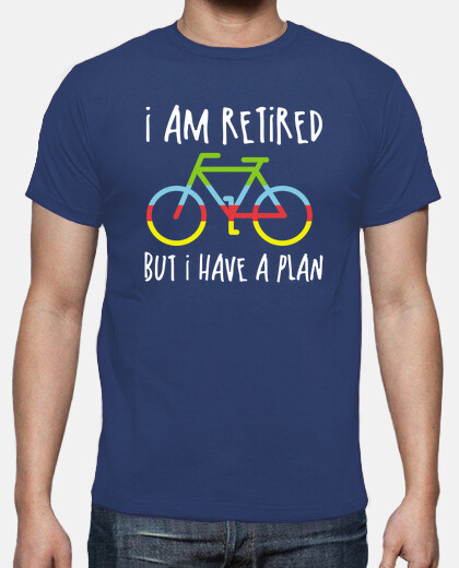 funny retired plans with bicycle