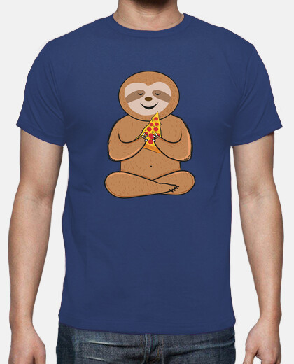 funny sloth pizza lovers colorful