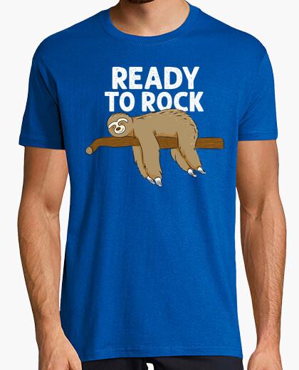 Camiseta Funny Sloth Sleeping - Ready To Rock