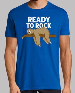 funny sloth sleeping - ready to rock