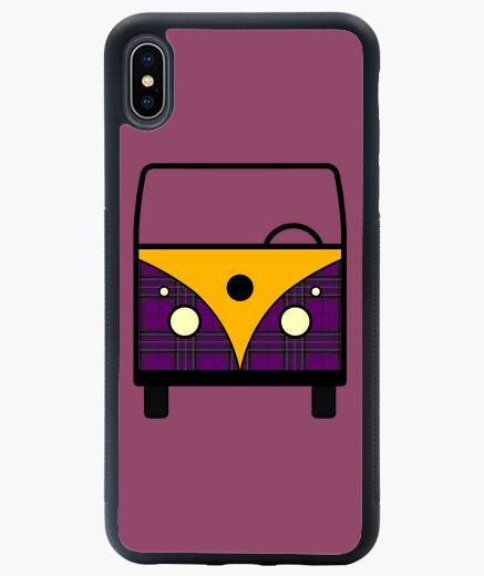 furgo cuadros morado Funda iPhone XS Max...