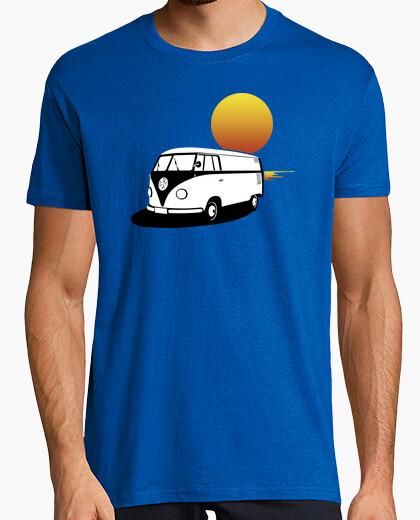 Camiseta Furgoneta Hippie Atardecer