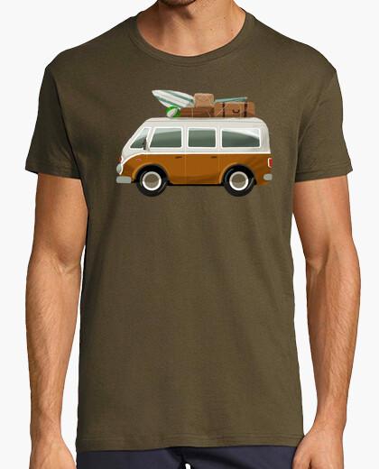 Furgoneta Surf - camiseta hombre