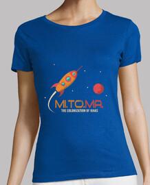 fusée vintage - mission vers mars