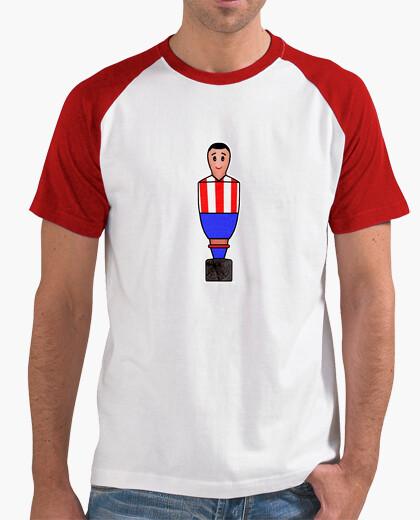 Camiseta Futbolín rojo y azul Dibujo