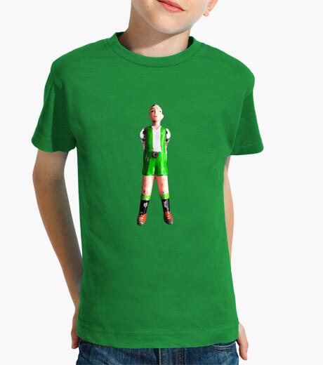 Vêtements enfant futbolin vert deux jambes et blanc