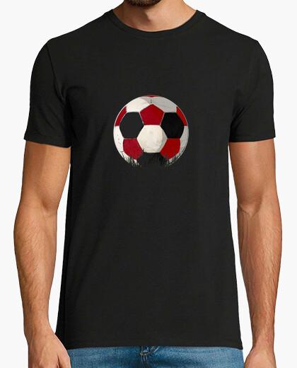 Camiseta FUTBOLrojiblanco y negro