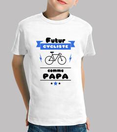 Futur cycliste comme papa