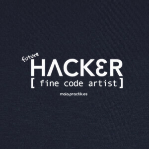 Camisetas future HACKER fine code artist
