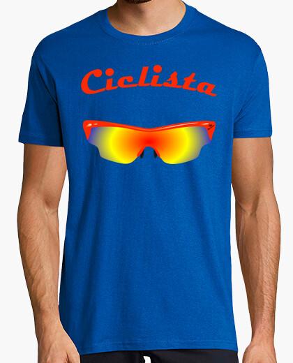 Camiseta gafas ciclista