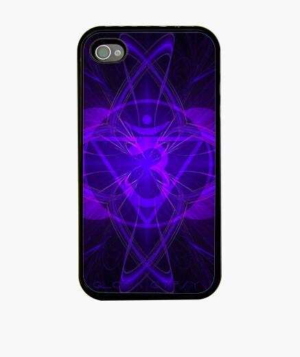 Coque iPhone gaine symbole violet 7ème chakra