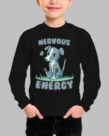 galgo de energía nerviosa - camisa de los niños